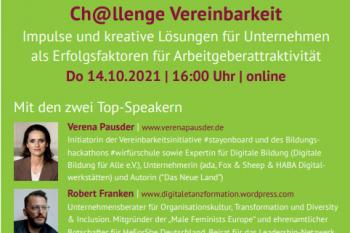2 Topspeaker bei der online Veranstaltung zum FWT