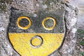 Grenzstein mit Schönauer Wappen